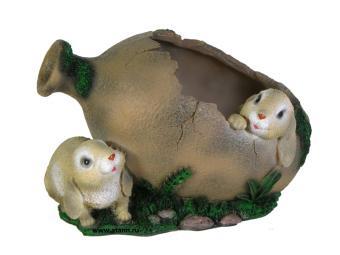 Кашпо Два зайца у амфоры