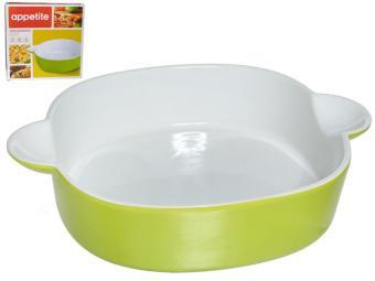 Форма керамическая 25,5*20,5*5,5см квадратная зеленая тм Appetite