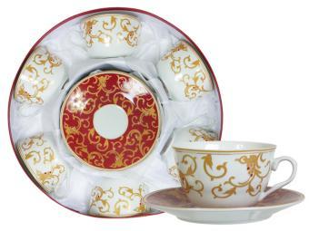 Набор чайный 12 пр Золотая вязь
