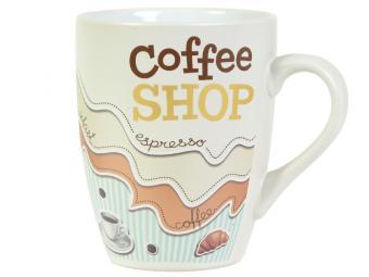 Кружка бочка 390мл Кофейня