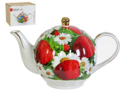 Чайник 1000мл Клубника и ромашки