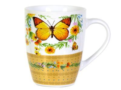 Кружка 350мл Бабочки