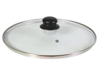 Крышка стеклянная 28см с метал ободом