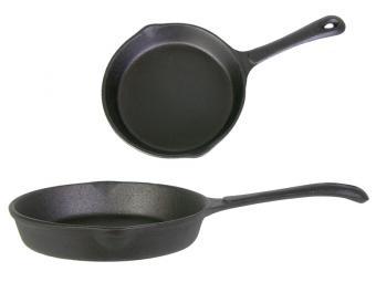 Сковорода чугунная 20см 2 слива