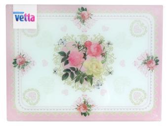 Доска разделочная Букет роз стекло 20*30см