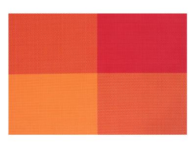 Набор салфеток под горячее Красно-оранжевые 4 шт 30*45см  170908