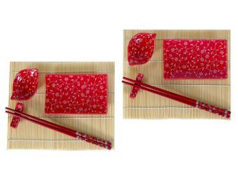 Набор для суши Узор на красном