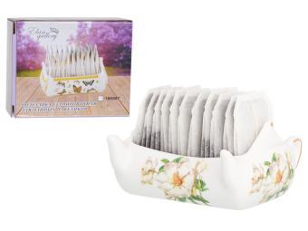 Подставка сервировочная для чайных пакетиков 100мл Чайник Белый шиповник 630084