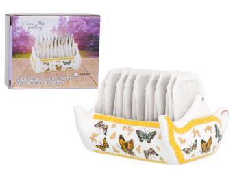 Подставка сервировочная для чайных пакетиков 100мл Чайник Бабочки 630086