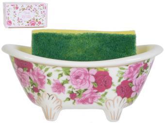Подставка для губки Аромат роз с губкой 630126