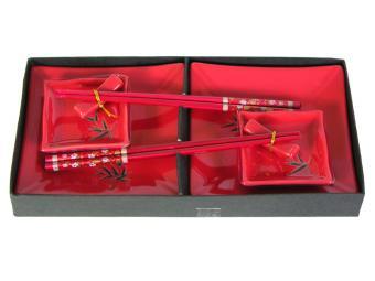 Набор для суши Бамбук на красном 8пр
