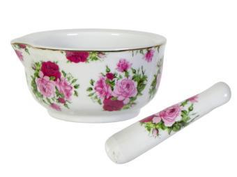 Ступка керамическая Аромат роз с пестиком