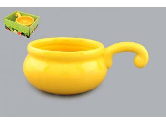 Кокотница жюльенница Желтая 260мл 15*9*6 см