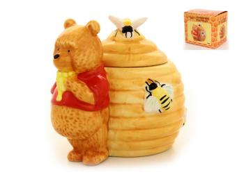 Горшочек для меда Мишка-сладкоежка 13см 550мл