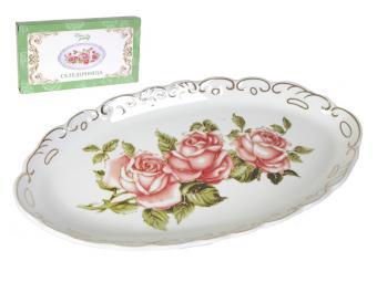 Селедочница Райская роза 26*14*3см