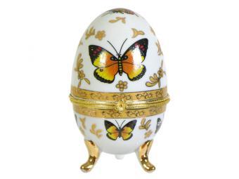 Шкатулка-яйцо Бабочки