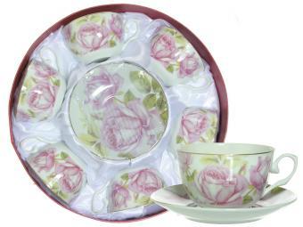 Чайный набор 12пр в круглой коробке (57032)
