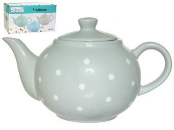 Чайник заварочный 1000мл ''Нежный горошек'' (микс)