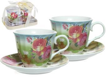 Чайный набор 4пр Ваза с цветами 124-01054