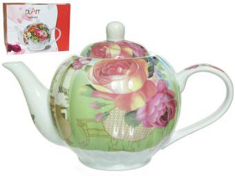 Чайник заварочный 1000мл Ваза с цветами