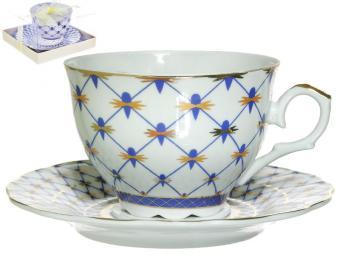 Чайный набор 2пр Кобальтовая сетка