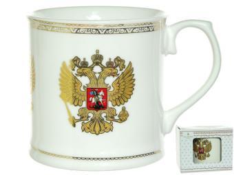Кружка 350мл Национальная символика с золотом