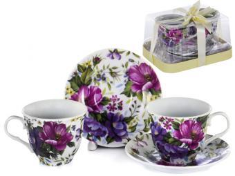 Чайный набор 4пр 250мл Фиолетовый букет