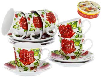 Чайный набор 12пр Коасная роза
