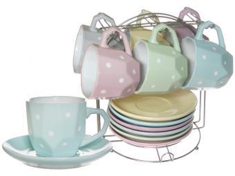 Чайный сервиз 12пр ''Нежный горошек'' на м/подст. (54680)