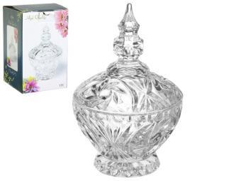 Сахарница вазочка с крышкой стеклянная