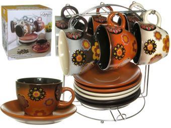 Чайный сервиз 12пр ''Шоколадное ассорти'' на м/подст. (54659)