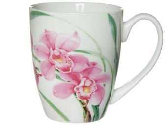 Кружка 390мл бочка Орхидея