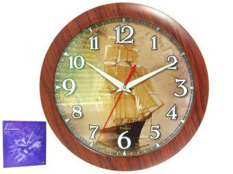 Часы настенные ''Парусник'' d29см