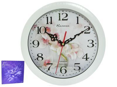 Часы настенные ''Орхидеи'' d29см Камелия