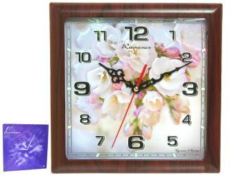 Часы настенные ''Яблоневый цвет'' 29*29 см