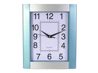 Часы настенные серо-голубой