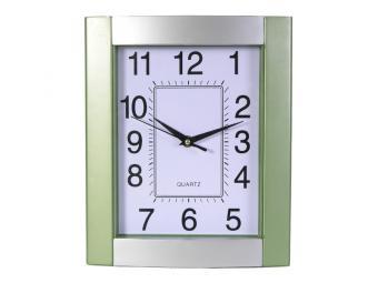 Часы настенные серо-зеленый