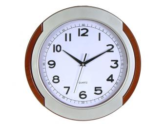 Часы настенные Металлик, дерево 32*32*4,3см