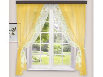 Комплект штор для кухни Арина золото 240*160см