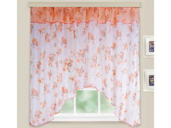 Комплект штор для кухни Кантри персик 285*160см