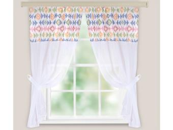 Комплект штор для кухни Кристалл Этно мульти 280*160