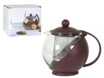 Чайник заварочный с сеточкой 600мл