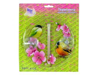Термометр оконный Птички
