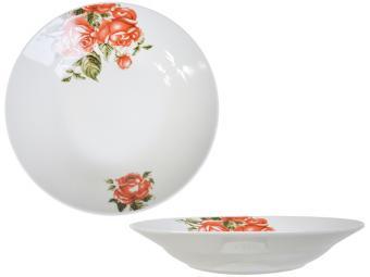 Тарелка суповая 500мл 20см Королевская роза