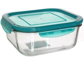 Форма стеклянная 1,5л квадратная герметичная крышка тм Appetite