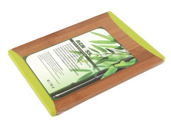 Доска разделочная бамбук с силиконовыми вставками