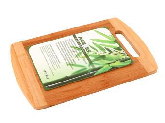 Доска бамбук с вырубленной ручкой 30*20*1,0см