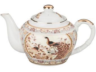 Чайник заварочный Павлин на бежевом 680мл
