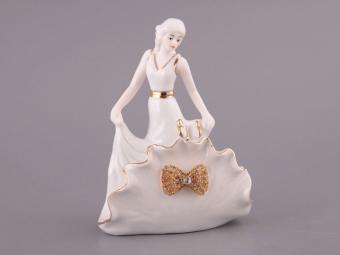 Салфетница со стразами Дама в белом