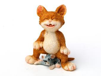 Фигурка Кошка с мышкой 8см